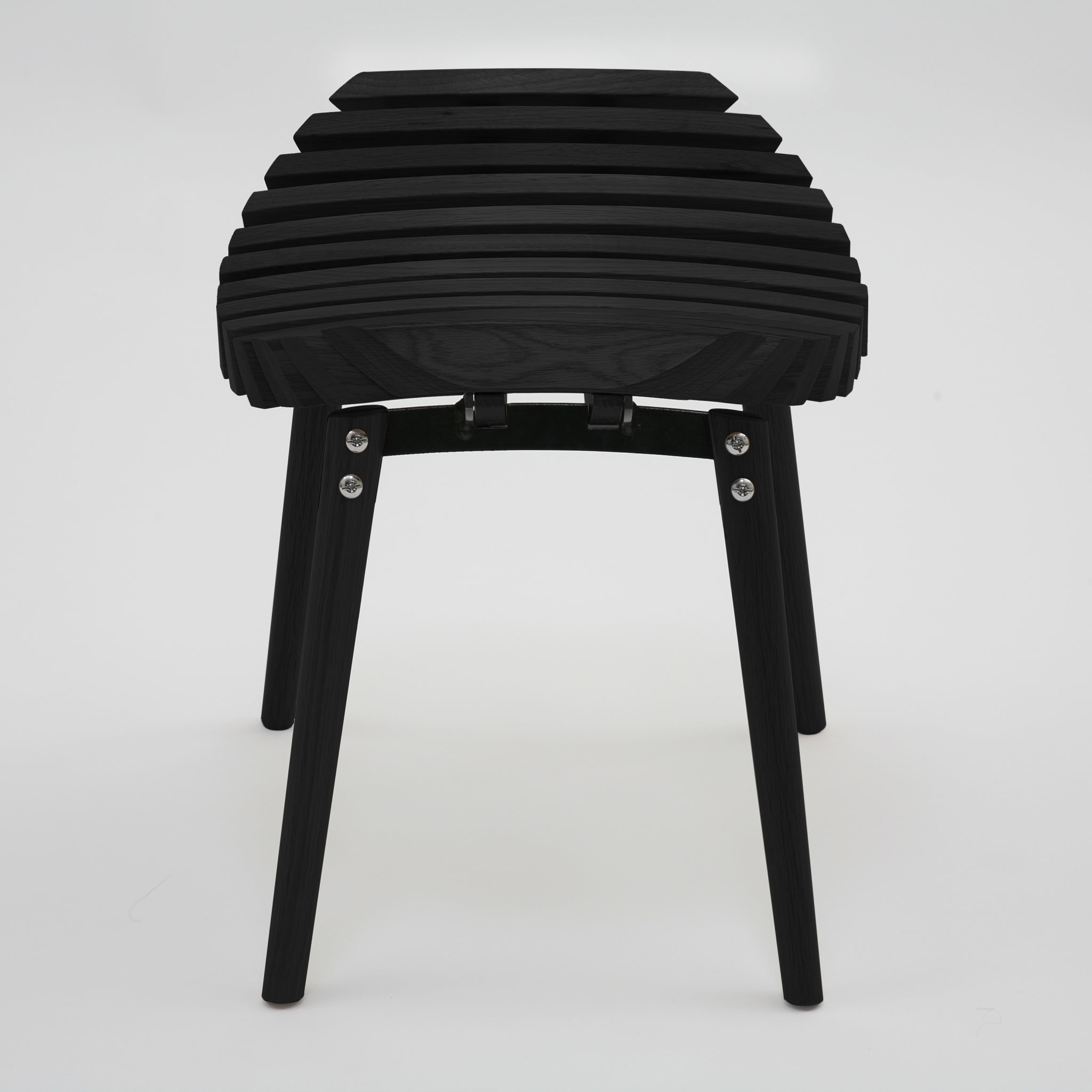 Ane stool black on black frame