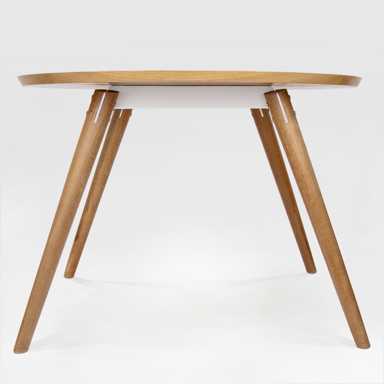 Tisane solid timber table with steel frame