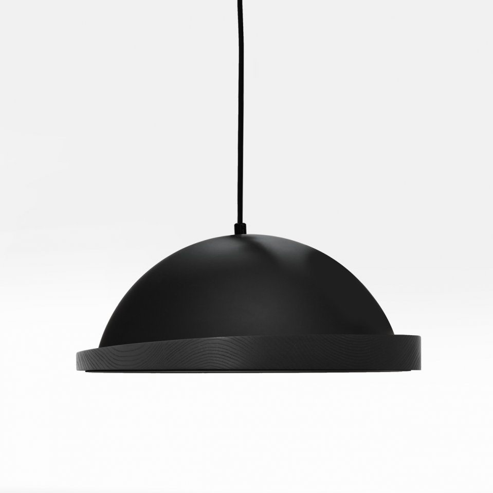 Little Obelia black pendant light